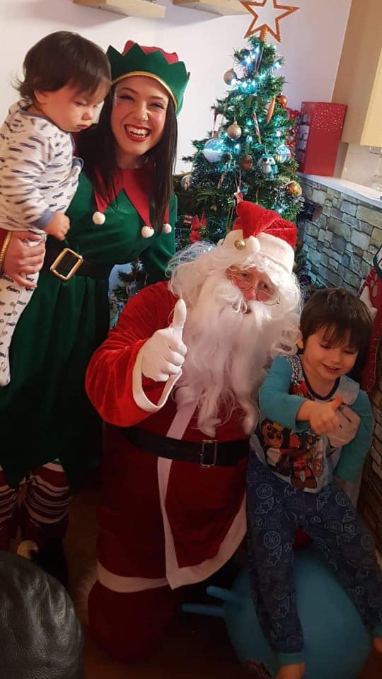 Children's entertainer Kent. Christmas. Santa and Elf home visit.