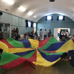 Parachute games with Vibrant Events. Children's entertainers in Kent.