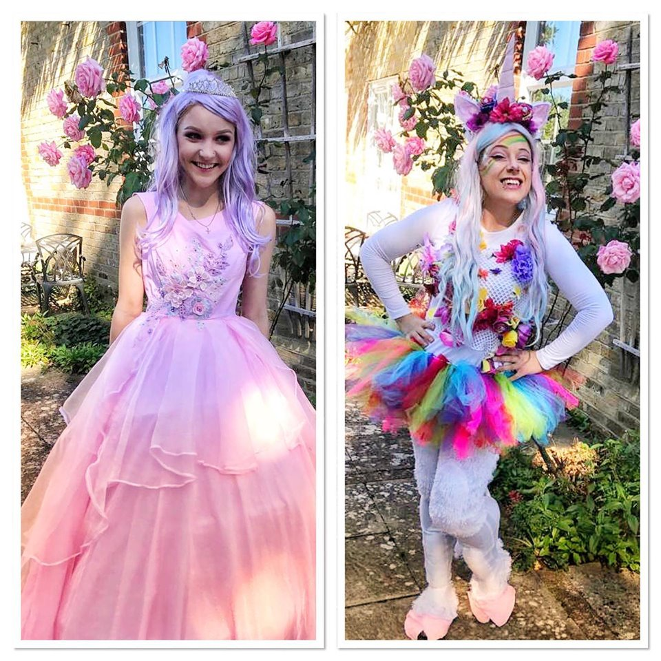 Princess pearl and Starburst the unicorn. Vibrant Events.